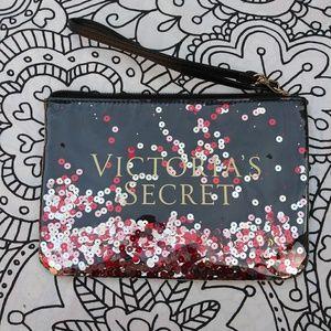 VICTORIAS SECRET floating sequins wristlet